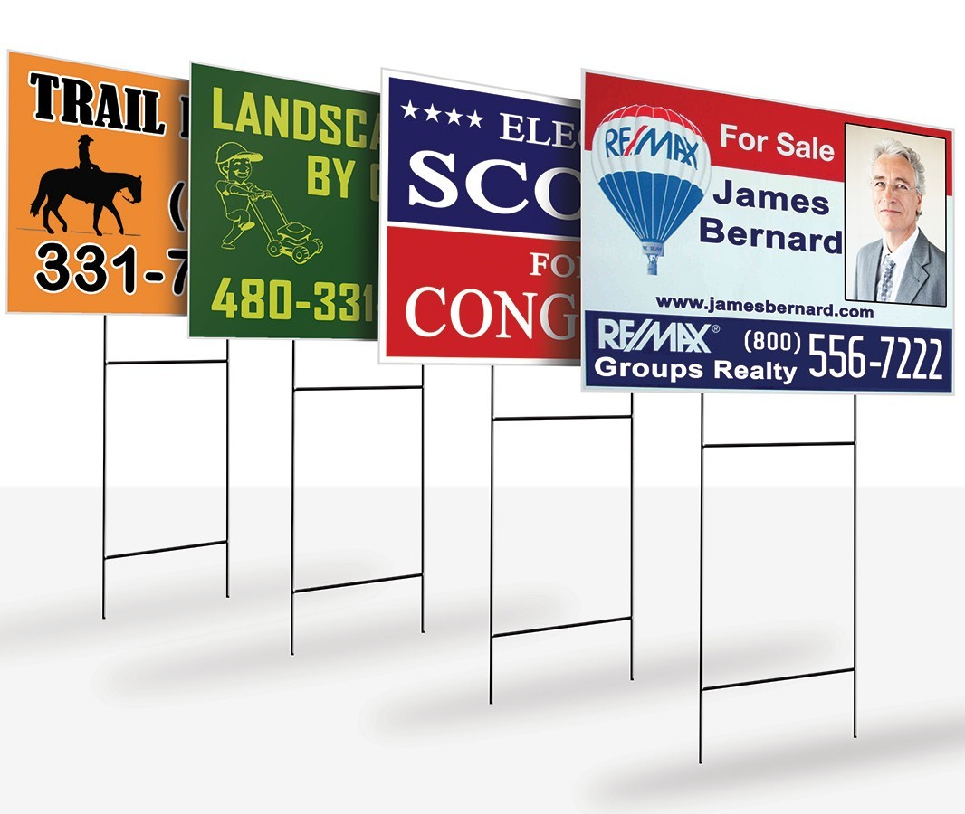 coroplast sign, real estate yard sign